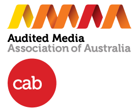 Audited Media Association of Australian and CAB logos