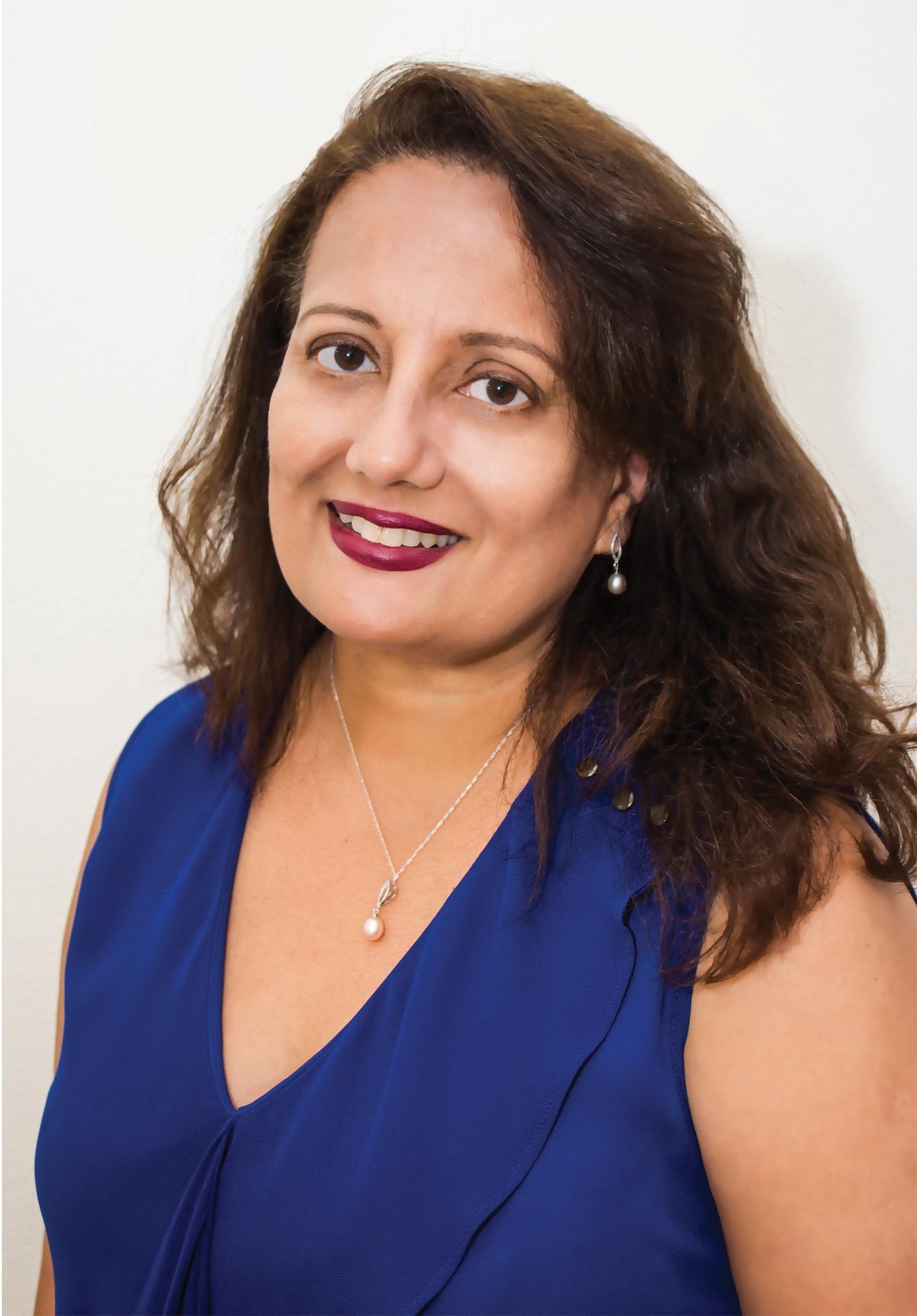 Editor Deepa poses for professional photo