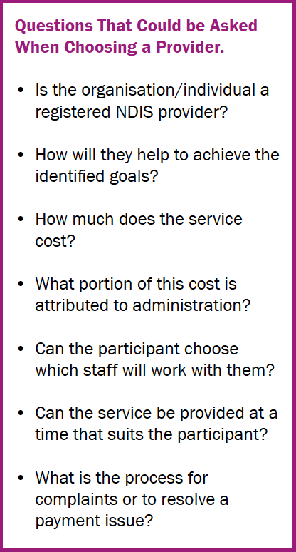 Carer selection information sheet