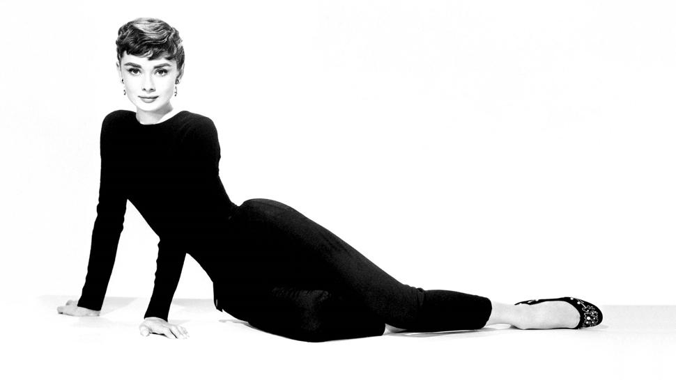 Audrey Hepburn poses