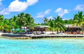 Luxury beach resort by ocean