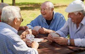 Senior playing card games