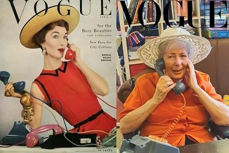 Senior recreating a vouge magazine cover