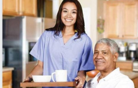 Seniors receiving care