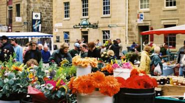 Flowers in a market