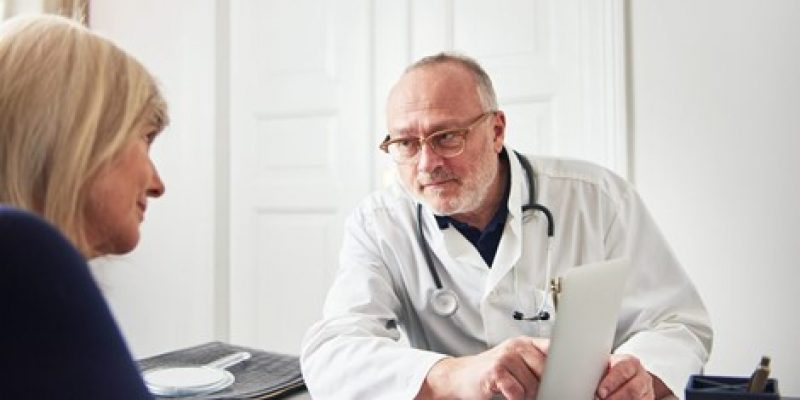 Senior having a consultation with a doctor