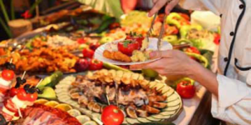 Buffet of Various Foods