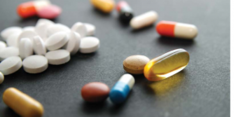 Various medicine on a table
