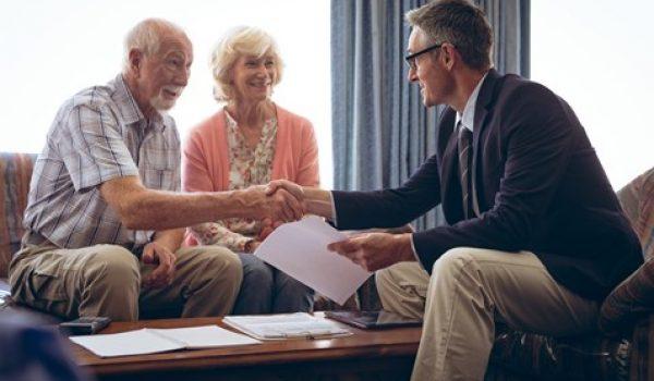 Seniors having a consultation