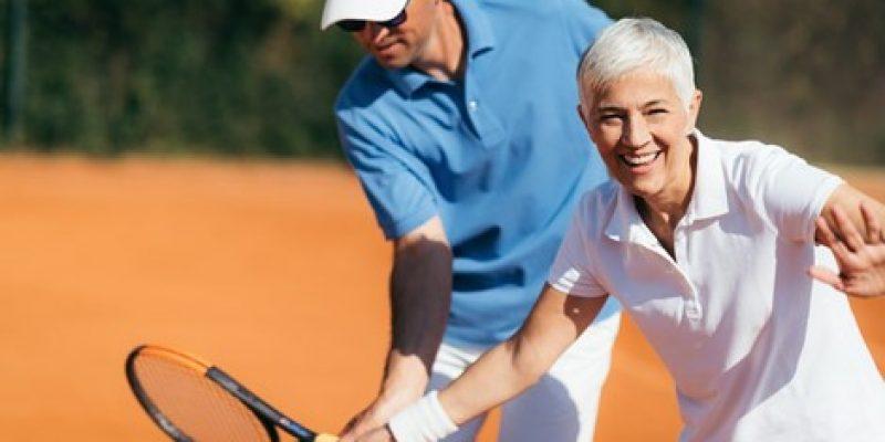 Seniors doing sport
