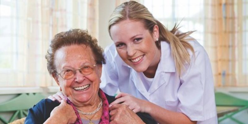 Senior with their in home carer